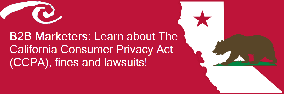 B2B marketers: Learn about The California Consumer Privacy Act (CCPA), fines and lawsuits!